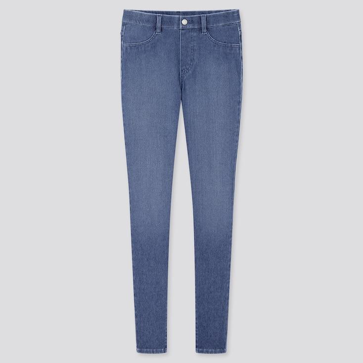 "Women Ultra Stretch Denim Leggings Pants (Tall 32"") (Online Exclusive), Blue, Large"
