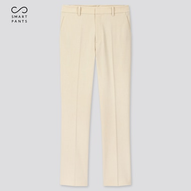 Women Smart 2-Way Stretch Solid Ankle-Length Pants (Tall) (Online Exclusive), Off White, Medium