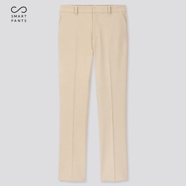 Women Smart 2-Way Stretch Solid Ankle-Length Pants (Tall) (Online Exclusive), Beige, Medium