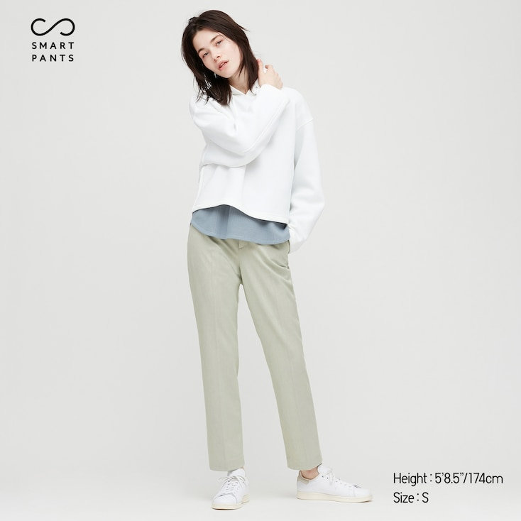 Women Smart 2-Way Stretch Solid Ankle-Length Pants (Tall) (Online Exclusive), Light Green, Large