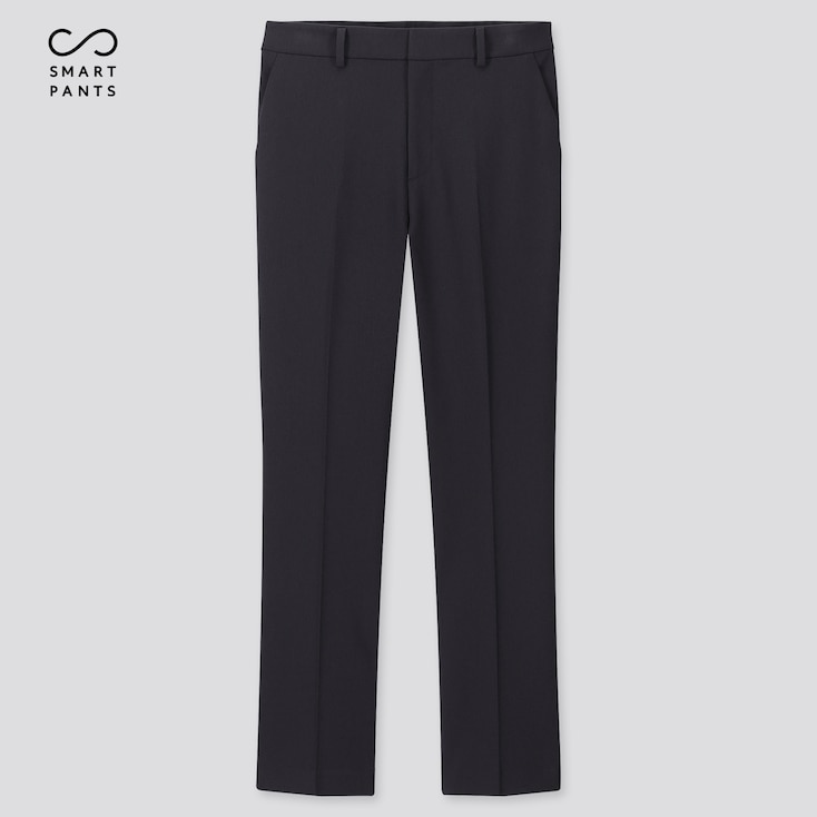 Women Smart 2-Way Stretch Solid Ankle-Length Pants (Tall) (Online Exclusive), Navy, Large