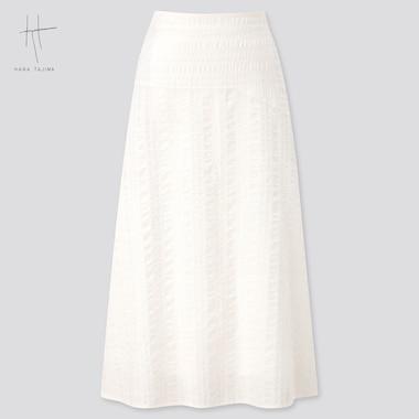 Women Flare Long Skirt (Hana Tajima) (Online Exclusive), Off White, Medium