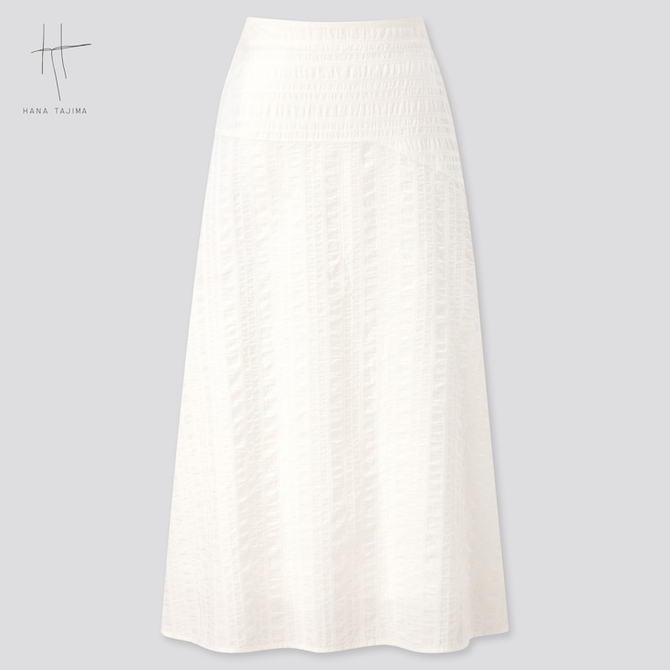 Women Flare Long Skirt (Hana Tajima) (Online Exclusive), Off White, Large