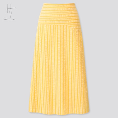 Women Flare Long Skirt (Hana Tajima) (Online Exclusive), Yellow, Medium