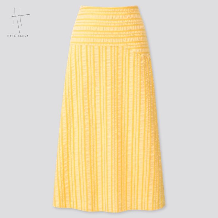 Women Flare Long Skirt (Hana Tajima) (Online Exclusive), Yellow, Large