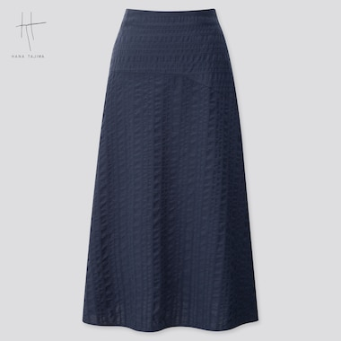 Women Flare Long Skirt (Hana Tajima) (Online Exclusive), Navy, Medium