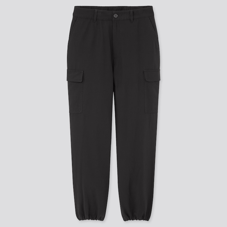 """Women Loose Fit Cargo Jogger Pants (Tall 31"""") (Online Exclusive), Black, Large"""