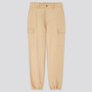 "Women Loose Fit Cargo Jogger Pants (Tall 31"") (Online Exclusive), Beige, Medium"