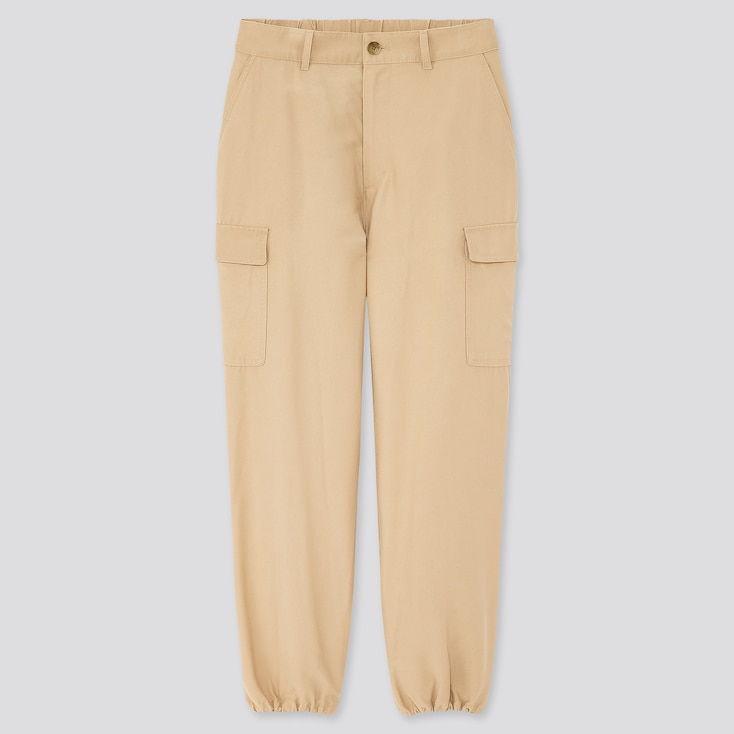"Women Loose Fit Cargo Jogger Pants (Tall 31"") (Online Exclusive), Beige, Large"