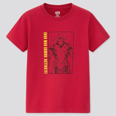 Kids Art Of Marvel Ut (Short-Sleeve Graphic T-Shirt), Red, Medium
