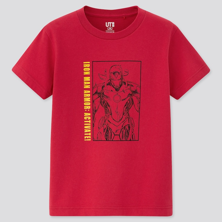 Kids Art Of Marvel Ut (Short-Sleeve Graphic T-Shirt), Red, Large
