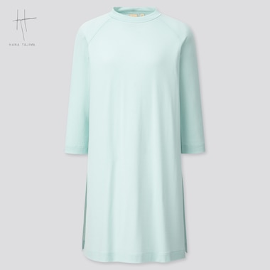 Women Crew Neck 3/4 Sleeve Tunic (Hana Tajima) (Online Exclusive), Light Blue, Medium
