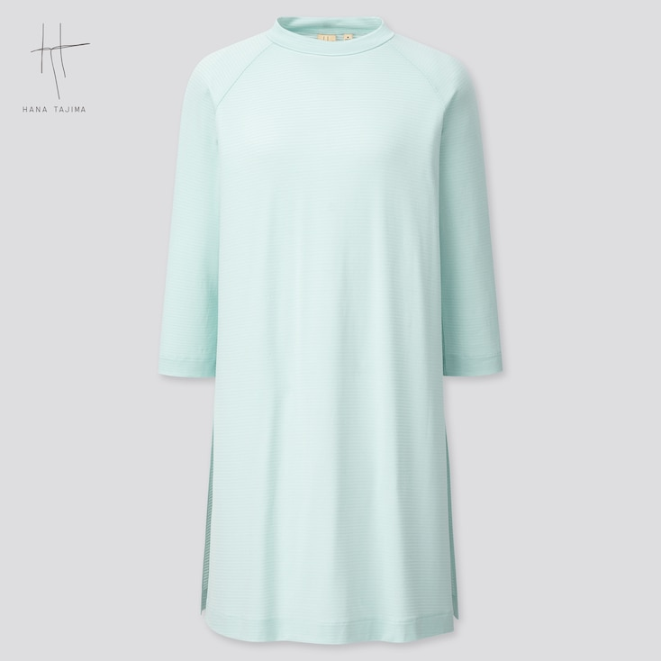 Women Crew Neck 3/4 Sleeve Tunic (Hana Tajima) (Online Exclusive), Light Blue, Large