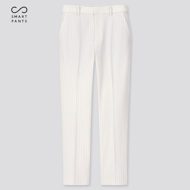 "Women Ezy 2-Way Stretch Pinstripe Ankle-Length Pants (Tall 29"") (Online Exclusive), Off White, Medium"