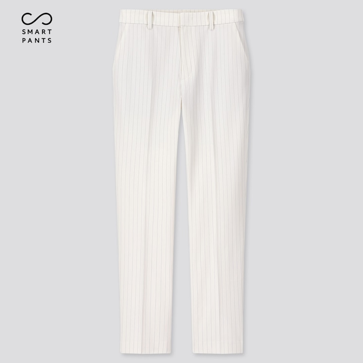 "Women Ezy 2-Way Stretch Pinstripe Ankle-Length Pants (Tall 29"") (Online Exclusive), Off White, Large"