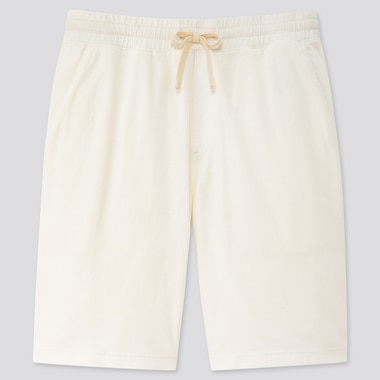Men Jersey Easy Shorts, Off White, Medium