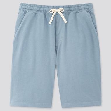 Men Jersey Easy Shorts, Blue, Medium
