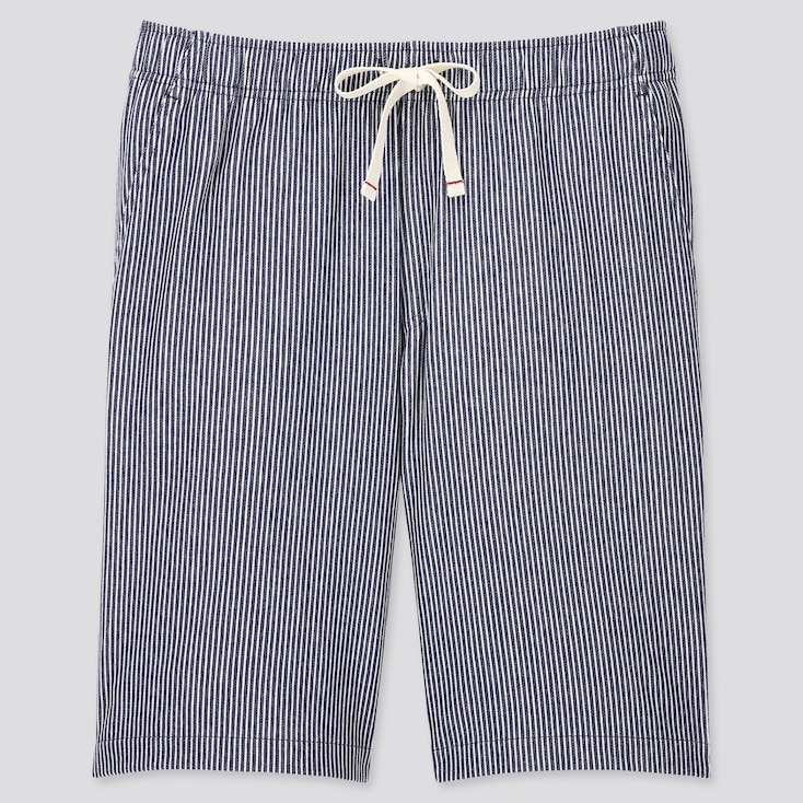 Men Jersey Easy Shorts, Navy, Large