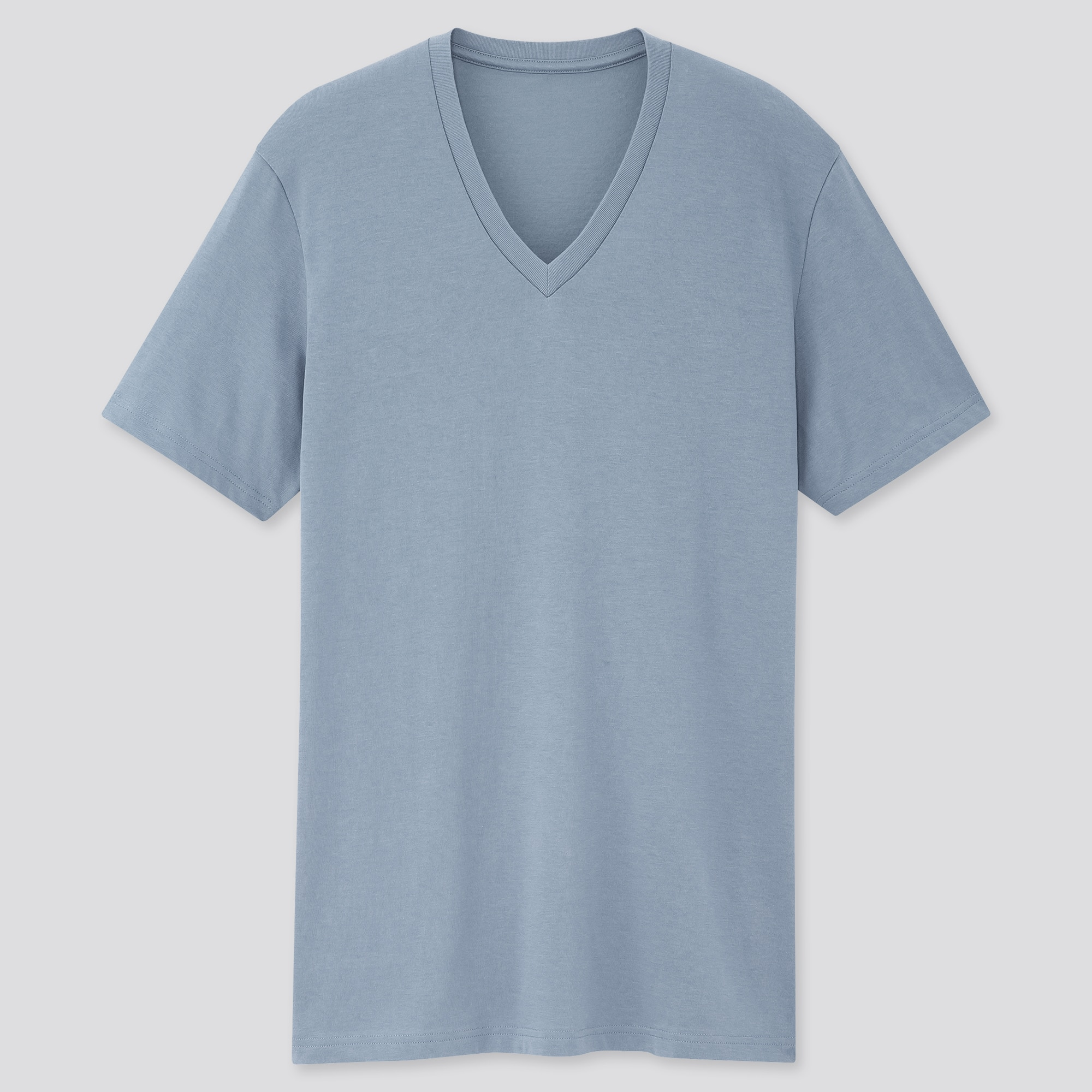MEN DRY V-NECK SHORT-SLEEVE COLOR T-SHIRT