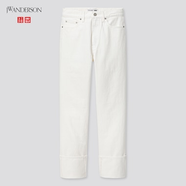 Women High-Rise Slim-Fit Straight Jeans (Jw Anderson), White, Medium
