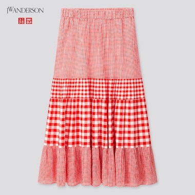 Women Tiered Skirt (Jw Anderson), Red, Medium