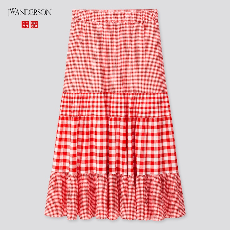 Women Tiered Skirt (Jw Anderson), Red, Large