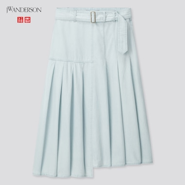 Women Tucked Flare Skirt (Jw Anderson), Blue, Medium