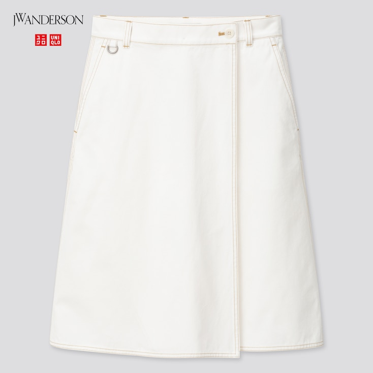 Women Wrap Skirt (Jw Anderson), Off White, Large
