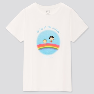 Girls Maruko & Cojicoji Ut (Short-Sleeve Graphic T-Shirt), White, Medium