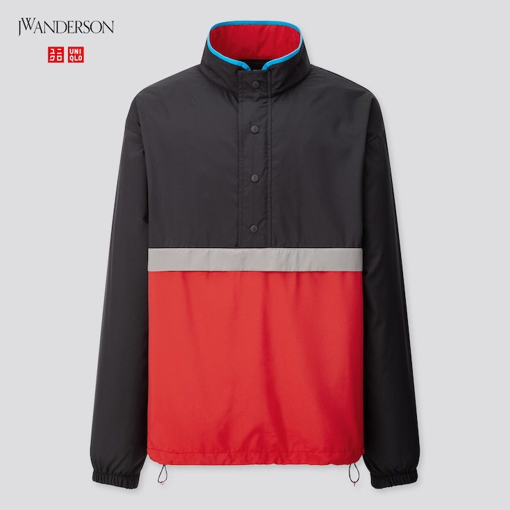 Men Pocketable Pull Over Blouson (Jw Anderson), Black, Large