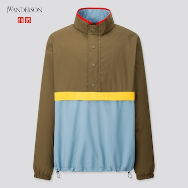 Men Pocketable Pull Over Blouson (Jw Anderson), Olive, Medium