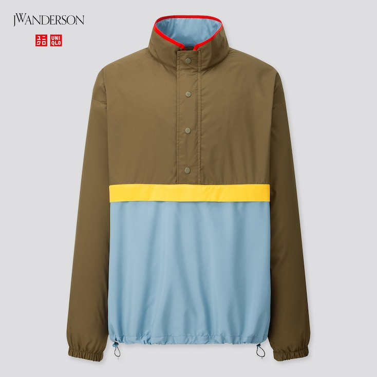 Men Pocketable Pull Over Blouson (Jw Anderson), Olive, Large