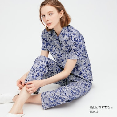Women Joy Of Print Soft Stretch Pajamas, Blue, Medium