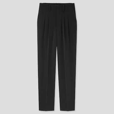 Women Drape Relaxed Fit Tapered Ankle Length Trousers