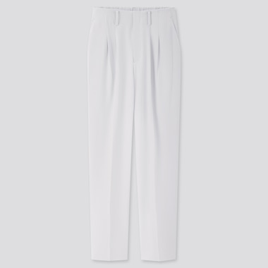 Women Drape Relaxed Tapered Ankle Pants, Light Blue, Medium