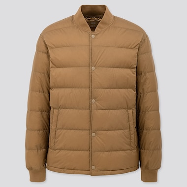 Men Ultra Light Down Ribbed Blouson Jacket