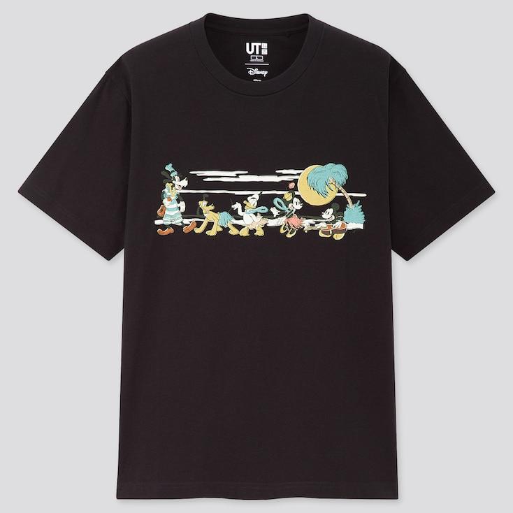 Mickey Aloha Ut (Short-Sleeve Graphic T-Shirt), Black, Large