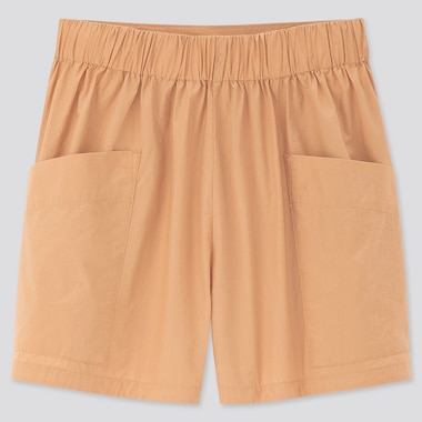 Women Cotton Poplin Cargo Shorts
