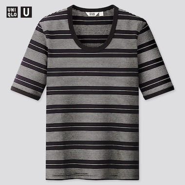T-Shirt Uniqlo U A Righe Donna