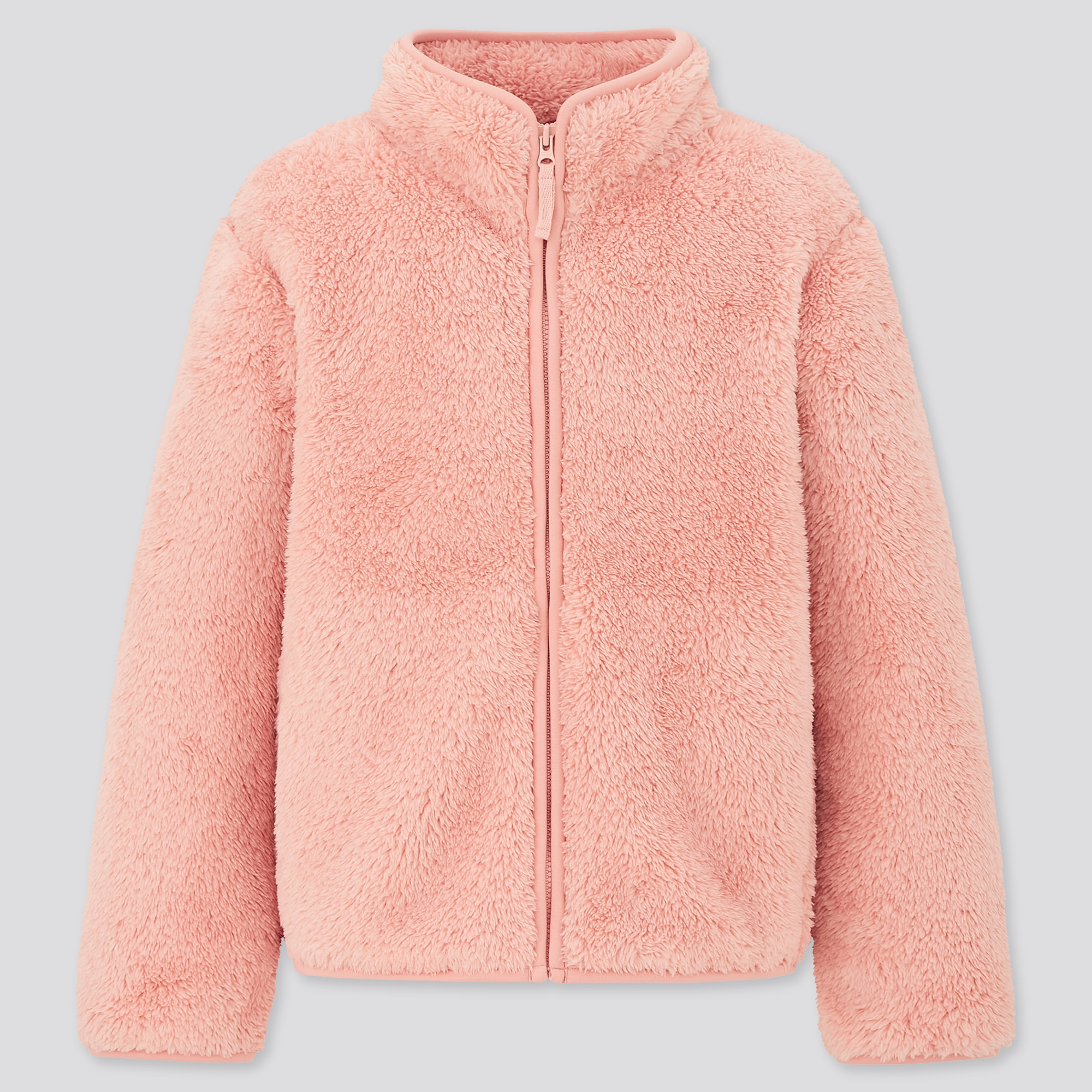 KIDS FLUFFY YARN FLEECE LONG-SLEEVE JACKET