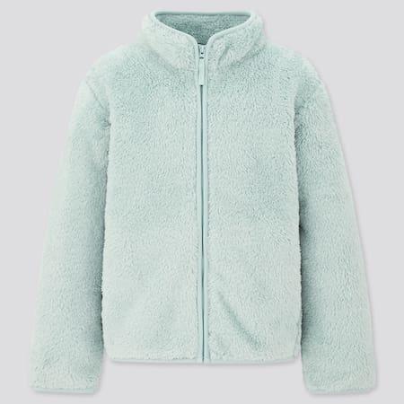 Kids Fluffy Fleece Zipped Jacket