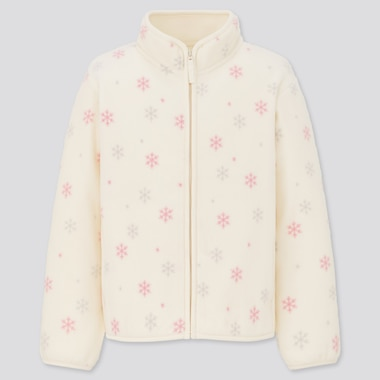 Girls Printed Fleece Zipped Jacket