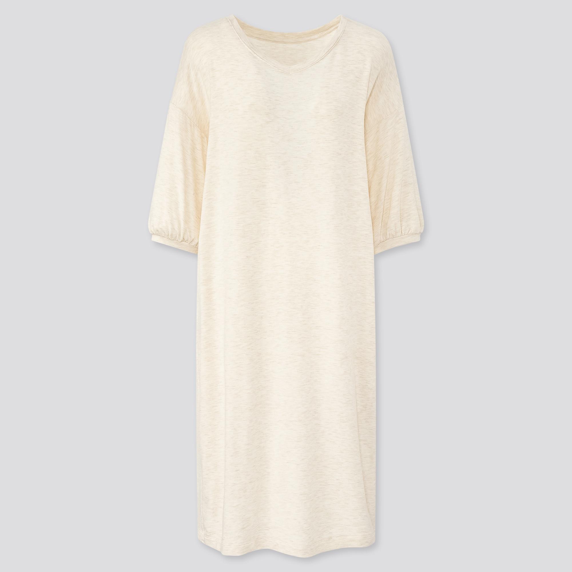 Uniqlo women ultra stretch soft 3/4 sleeve dress