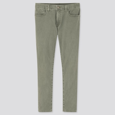 Men Ezy Ultra Stretch Color Jeans, Olive, Medium