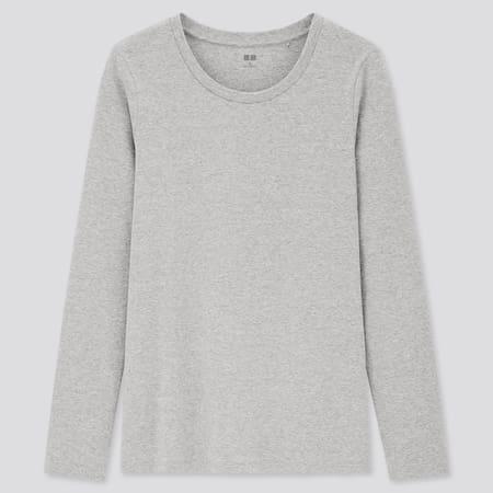 Damen Langarmshirt aus Baumwolle mit Stretch