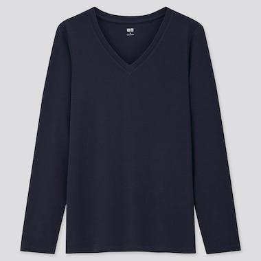 T-Shirt Coton Manches Longues Femme