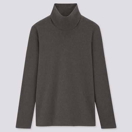 Camiseta Algodón Elástica Cuello Alto Mujer