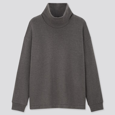 Women Fleece Stretch Turtleneck Pullover Shirt