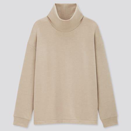 Women Fleece Stretch Turtleneck Pullover Shirt