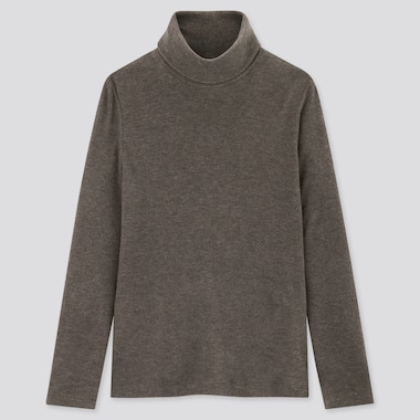 Women HEATTECH Fleece Turtleneck Thermal Top
